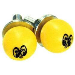 Mooneyes Yellow Moon Ball License Plate Bolts