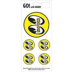 Mooneyes 5 Eyeball Logo Decals
