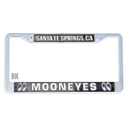 Mooneyes Santa Fe Springs License Plate Frame, Black