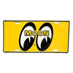 Mooneyes Eyeball Logo License Plate, Yellow