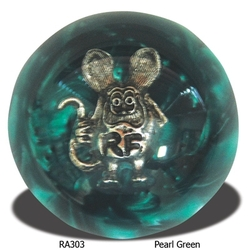 Mooneyes Rat Fink Shift Knob, Green Pearl
