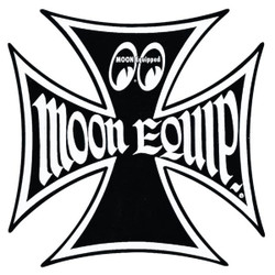 "Mooneyes Equipped Iron Cross 6"" Decal"