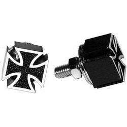 Mooneyes Iron Cross License Plate Bolts, Black