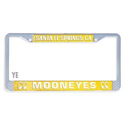 Mooneyes Santa Fe Springs License Plate Frame, Yellow