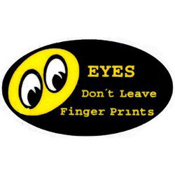 Mooneyes Eyes Don't Leave Finger Prints Decal