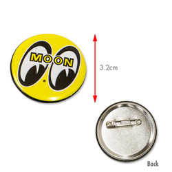 Mooneyes Can Badge, Yellow