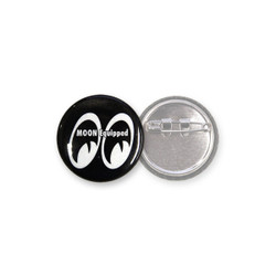 Mooneyes Equipped Can Badge, Black