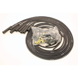 Pertronix Flame-Thrower Spark Plug Wires 8 Cylinder 8mm Universal 180 Degree, Black
