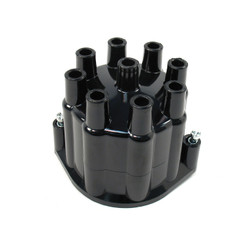 Pertronix 8 Cylinder Flame-Thrower Billet Distributor Cap, Black
