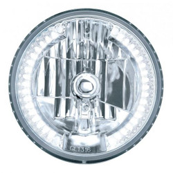 "United Pacific 7"" Crystal Headlight w/ 34 LED Position Light, White LED"