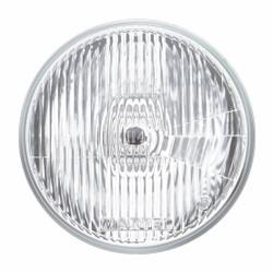 "United Pacific 7"" Round Flat Euro Style 12V H4 Halogen Headlight Bulb"