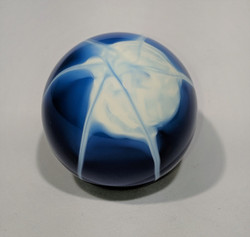 2-1/8 Splash Shift Knob, Blue & White