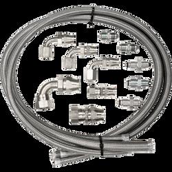 Billet Specialties Power Steering Hose Kit for Remote Reservoir