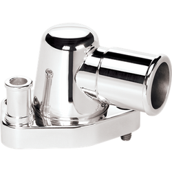 Billet Specialties Thermostat Housing - SB Ford - 0 Degree, Polished
