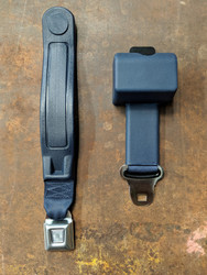 Seatbelt Solutions 2-Point Retractable Lap Belt w/ Starburst Push Button & Sleeve