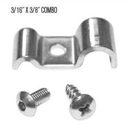 "Kugel Komponents 3/16"" X 3/8"" Combo Line Clamp, 6 Pack"