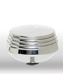Air Filter Knobs, Large Art Deco, Polished