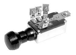 SO-CAL Speed Shop 3-Position Headlight Switch, Art Deco Knob, Black Anodized