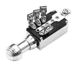 SO-CAL Speed Shop 3-Position Headlight Switch, Forty Knob, Polished