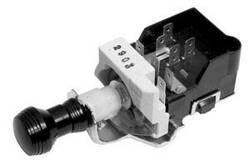 SO-CAL Speed Shop Headlight/Parking Lamp Switch, Art Deco, Black