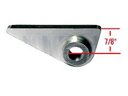 "SO-CAL Speed Shop Front Radius Rod Frame Tab, 7"" Hole w/ 7/8"" Center"