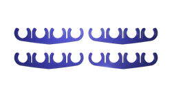 BAD Innovations 8.5mm Blue Spark Plug 4 Wire Separator