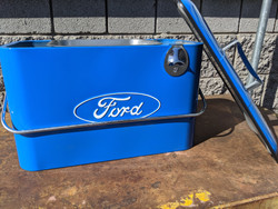 Vintage Ford Beverage Cooler, Blue