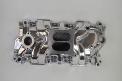 "RPC Aluminum SBC ""Square-Bore"" Intake Manifold, Polished"