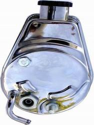 RPC 1970-74 GM Saginaw Power Steering Pump, Keyway Style, Chrome