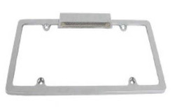 RPC Aluminum License Frame with Light, Chrome