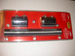 "RPC 12"" Radiator Flex Hose Kit with Chrome End Caps"