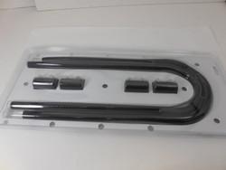 """RPC 44"""" Heater Hose Kit, Black"""