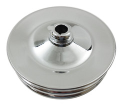RPC GM 2-Groove Power Steering Pulley, Chrome