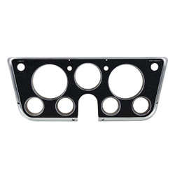 United Pacific  Dash Bezel For 1969-72 Chevy/GMC Truck With 7 Gauges - Black & Chrome