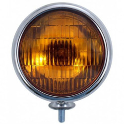 United Pacific  6V Vintage Chrome Fog Light, Amber Lens