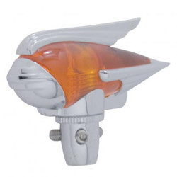 United Pacific  Chrome Antenna Topper, Amber