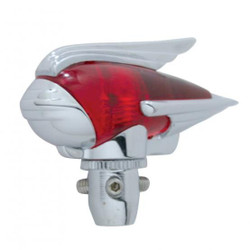United Pacific  Chrome Antenna Topper, Red