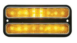 United Pacific  18 LED Side Marker Light W/Stainless Steel Trim, Front For 1968-72 Chevy Truck