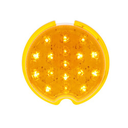 United Pacific  17 Amber LED Vintage Round P/T/C Light With Flush Mount Pad For 1939 Chevy Car