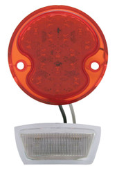 United Pacific  17 LED Tail Light Lens w/4 LED License Plate Light For 1932 Ford Car & Truck - L/H