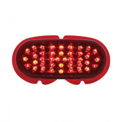 United Pacific  40 LED Tail Light Lens For 1942-48 Ford Car - RED LED/Red Lens