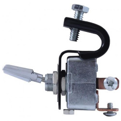 United Pacific  Heavy Duty Vintage Clamp-On Dash Switch, On-Off