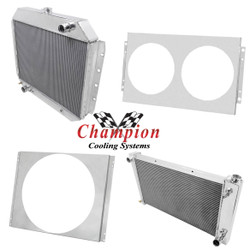Champion Cooling Systems Performance Radiators & Shrouds (CCS-3-ROW-RAD)