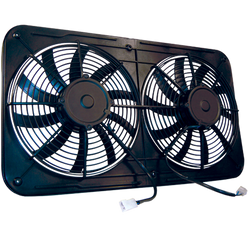 "Maradyne Jetstreme Series Shrouded Dual 12"" Reversible ""S"" Blade Electric Fan Assembly (DCM-MJS22K)"
