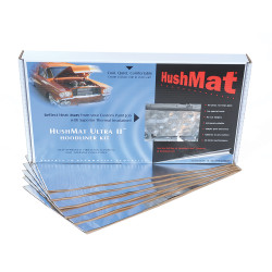 HushMat 12 Sq Ft Ultra Sound Deadening & Thermal Insulation Hoodliner Kit - Silver Foil (HUS-50100)