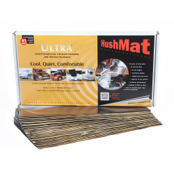 HushMat 58 Sq Ft Ultra Sound Deadening & Thermal Insulation Bulk Kit - Black Foil (HUS-10500)