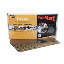 HushMat 39 Sq Ft Ultra Sound Deadening & Thermal Insulation Floor & Firewall Kit - Black Foil (HUS-10400)