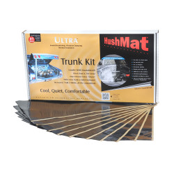 HushMat 19 Sq Ft Ultra Sound Deadening & Thermal Insulation Trunk Kit - Black Foil (HUS-10300)