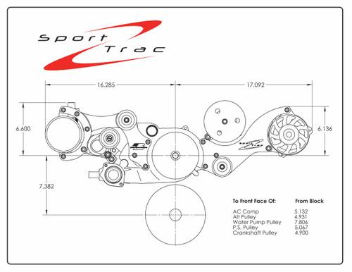 Billet Specialties LS Sport Trac Serpentine System