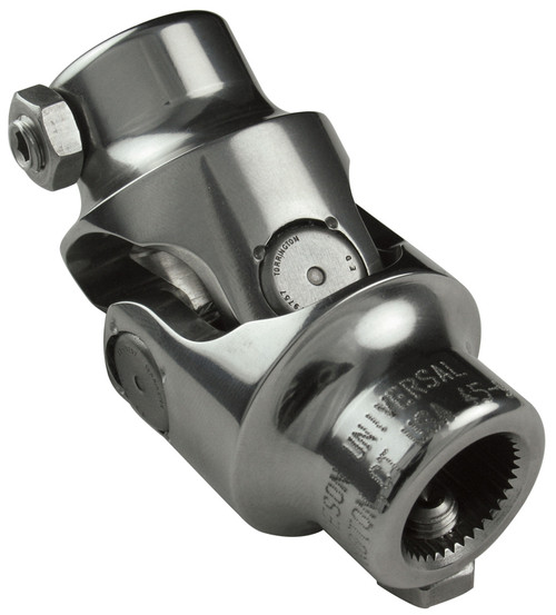 Borgeson 1 DD X 3/4 DD Steering U-Joint, Polished Stainless Steel
